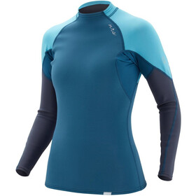 NRS HydroSkin 0.5 Long Sleeve Shirt Women, niebieski